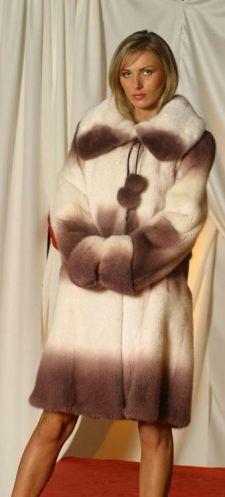 Modeled by Cortney Degrade Mink Coat Hood