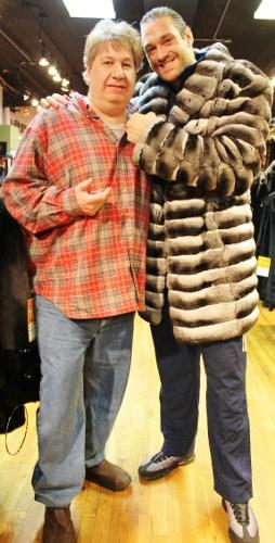London Boxer Tyson Fury Marc Kaufman Furs NY Chinchilla Fur Stroller
