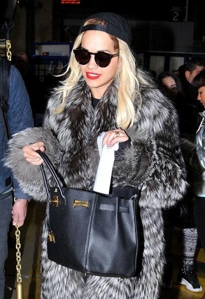 Rita Ora Fur Coat