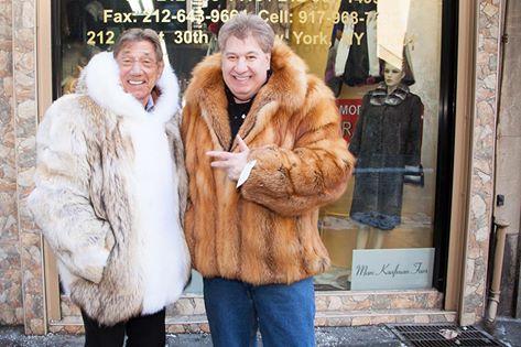 Joe Namath men's fur coat