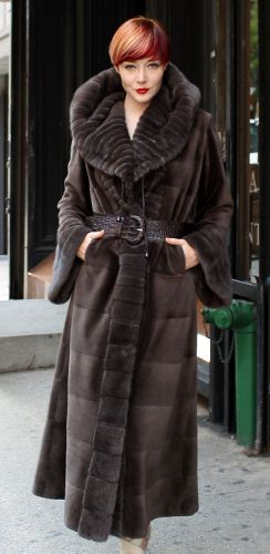 Brown Sheared Mink Fur Coat, exclusively from Marc Kaufman Furs