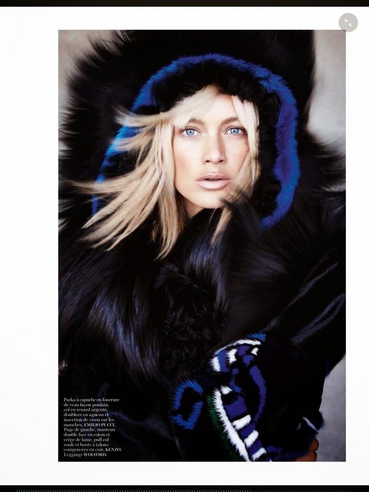 Fur Fashions Take Over The Pages of French Vogue