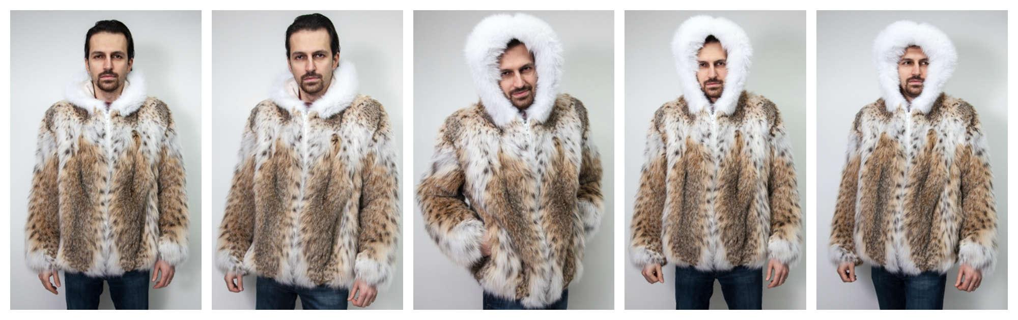 The Lynx Fur Jacket with White Fox Hood worn by Snoop Dogg AKA Snoop Lion