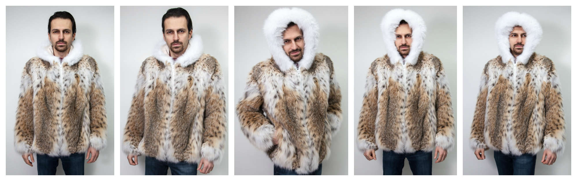 The Lynx Fur Jacket with White Fox Hood worn by Snoop Dogg AKA Snoop Lion