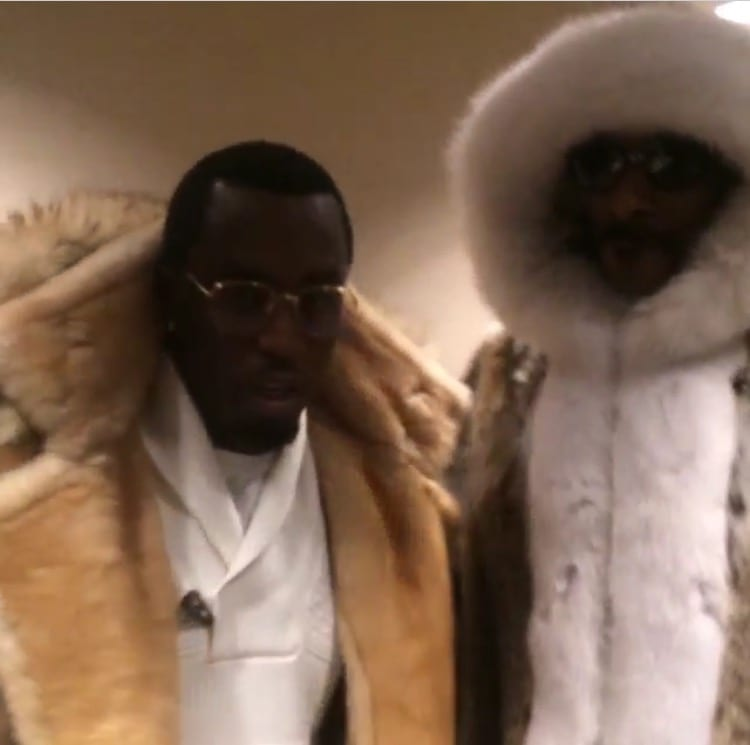 P. Diddy and Snoop Dogg wearing Marc Kaufman Furs, February 2015
