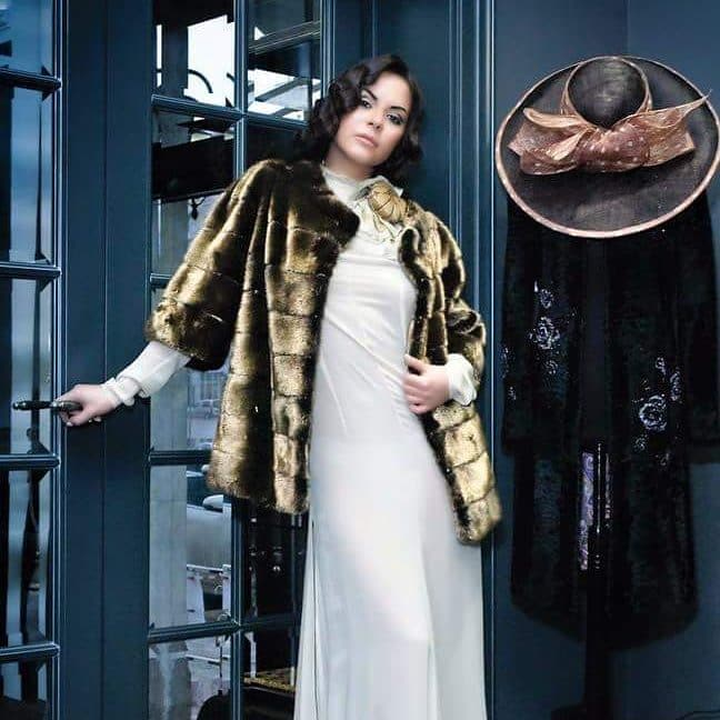 mink gold coat