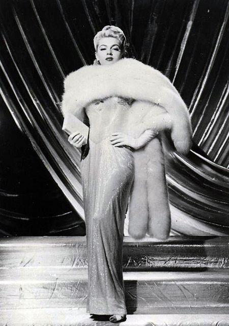 Lana Turner in classic fur