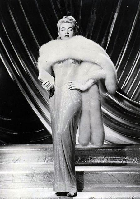 Lana Turner in classic fur