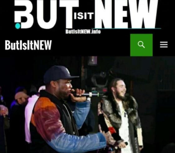 Post Malone 50 Cent mink coat patchwork
