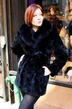thumb_Sheared Black Mink Coat Black Fox Collar (3)   MARC KAUFMAN FURS