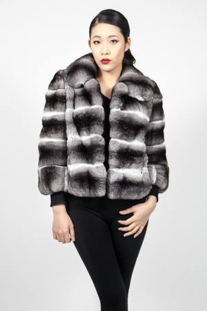 Marc Kaufman Furs presents a horizontal chinchilla fur jacket with with belle sleeves from Marc Kaufman Furs USA,Fur coats in Argentina, fur coats in Chile, fur coats in Venezuela, fur coats in Australia, fur coats in Belgium,fur coats in Netherlands, fur coats in Norway,fur coats in Sweden,fur coats in Dubais,fur coats in Egypt,fur coats in Egypt,fur coats in Kuwait, fur coats in South Africa,fur coats in Tunisia,fur coats in the Falklands
