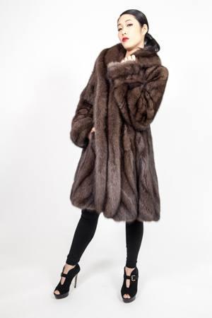 Marc Kaufman Furs presents a Russian Sable Fur Princess Swing Stroller from Marc Kaufman Furs New York City