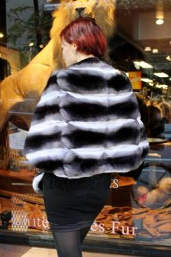 Black Velvet Chinchilla Fur Cape NYC