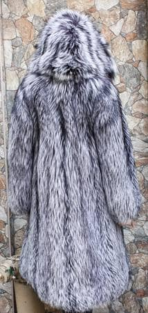 Silver Fox Fur Stroller Hood Marc Kaufman Furs NYC Fur Store Paris