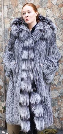 Amazing Silver Fox Fur Stroller Hood Marc Kaufman Furs NYC Fur Store Paris
