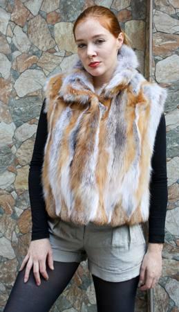 Red Fox Fur Vest