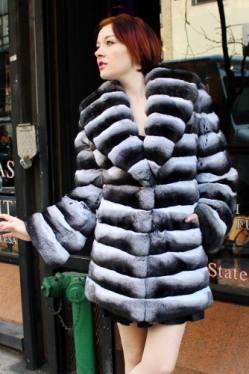 Sexy Chinchilla Fur Flared Stroller