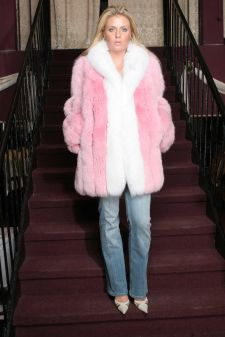 Pink White Fox Jacket