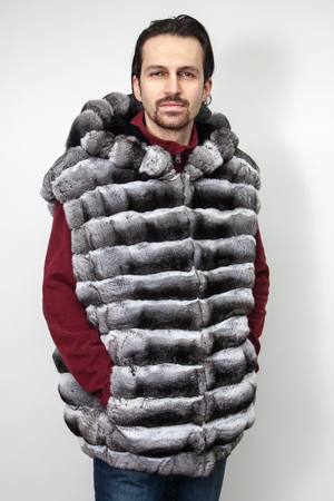 Marc Kaufman Presents a chinchilla vest with hood For Men from Marc Kaufman Furs New York,Fur coats in Baltimore, fur coats in Chicago, fur coats in Detroit, fur coats in Los Angeles, fur coats in Detroit, fur coats in orange county, fur coats in Atlanta, fur coats in Denver, fur coats in Dallas, fur coats in Seattle, fur coats in Portland, fur coats in Santiago, fur coats in Buenos Aires, fur coats in Caracas