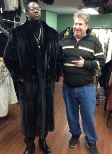 Singer 2 Chain Full Length Ranch Mink Fur Coat Marc Kaufman Furs NYC Image