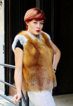 Natural Red Fox Fur Vest