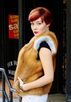 Natural Red Fox Fur Vest Marc Kaufman Furs NYC