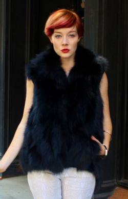 Black Fox Fur Vest