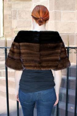 Mahogany Ranch Mink Fur Caplet