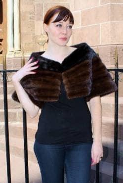 Mahogany Ranch Mink Fur Caplet Marc Kaufman Furs NYC
