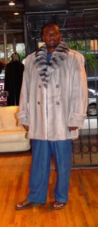 Tommy Ford Sapphire Mink Mens Stroller Chinchilla Collar Image