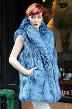 Blue Dyed Silver Fox Fur Vest Marc Kaufman Furs Fur Store Best