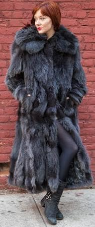 thumb_Full Length Charcoal Fox Fur Coat-5 | MARC KAUFMAN FURS