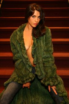 Green Knit Mink Coat