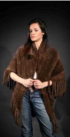 Demi Knit Mink Fur Cape Marc Kaufman Furs