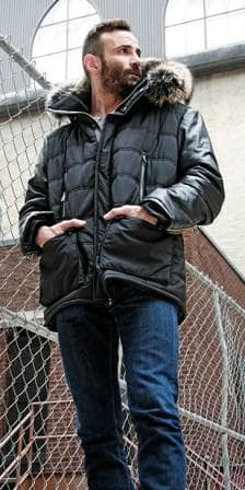 thumb_Micro_Fiber_With%20Leather_Sleeves_And_Trimmed_Fox_Hood_For_Men