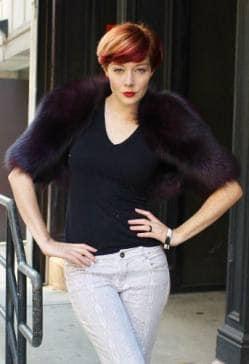 Purple Fox Fur Bolero
