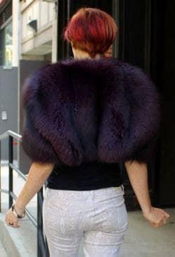 Sexy Purple Fox Fur Bolero