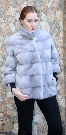 Sapphire Mink Fur Jacket Horizontal Design