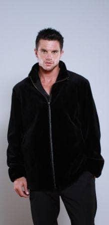 black Sheared Mink men's Fur Stroller