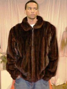 "Mahogany men""s Bomber Fur Jacket"