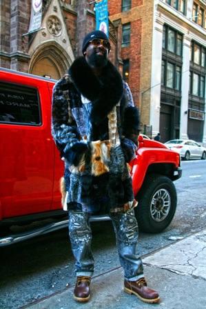 Old School Patchwork Mens Mink Coat