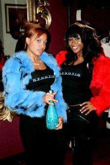 Kaufman Furs The Hypnotic Girls Dyed Blue Fox Jacket Red Fox Image