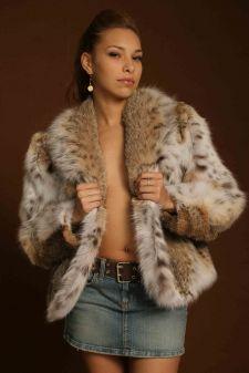 4adbf1d2be ... White Fox Trim 99711. Marc Kaufman Furs presents a Cat Lynx Fur Jacket  in New York City. Fur coats