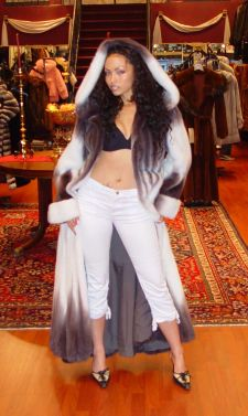 Marc Kaufman Furs Presents a purple and white mink fur coat with hood from Marc Kaufman Furs New York City, Fur coats in Baltimore, fur coats in Chicago, fur coats in Detroit, fur coats in Los Angeles, fur coats in Detroit, fur coats in orange county, fur coats in Atlanta, fur coats in Denver, fur coats in Dallas, fur coats in Seattle, fur coats in Portland, fur coats in Santiago, fur coats in Portugal, fur coats in Madrid