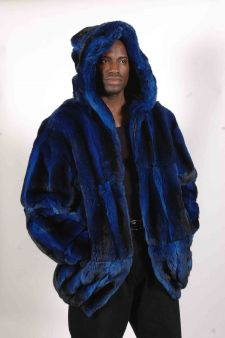 Marc Kaufman Furs presents a cobalt blue chinchilla hooded bomber fur jacket in New York City, Fur coats in Baltimore, fur coats in Chicago, fur coats in Detroit, fur coats in Los Angeles, fur coats in Detroit, fur coats in orange county, fur coats in Atlanta, fur coats in Denver, fur coats in Dallas, fur coats in Seattle, fur coats in Portland, fur coats in Santiago, fur coats in Portugal, fur coats in Madrid