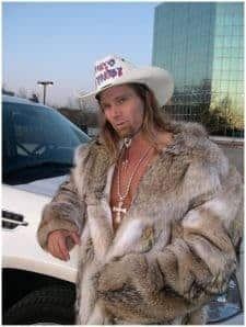 Naked Cowboy Kaufman Furs Full Length Coyote Coat Image