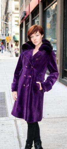 Marc Kaufman Furs Presents a purple sheared mink fur coat with matching purple chinchilla fur collar from Marc Kaufman Furs New York,Fur coats in Argentina, fur coats in Chile, fur coats in Venezuela, fur coats in Australia, fur coats in Belgium,fur coats in Netherlands, fur coats in Norway,fur coats in Sweden,fur coats in Dubais,fur coats in Egypt,fur coats in Egypt,fur coats in Kuwait, fur coats in South Africa,fur coats in Tunisia,fur coats in the Falklands