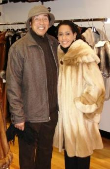 Smokey Robinson wears a Two Toned Mink Fur Men's Jacket in New,York