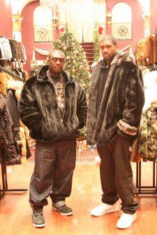 Marc Kaufman Furs Leon Powe Boston Celtic Ranch Mink Chinchilla Trim Fur Jacket Image