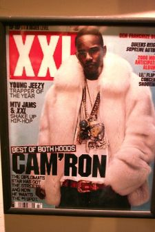 Cam Ron XXL White Fox Mens Bomber Fox Jacket